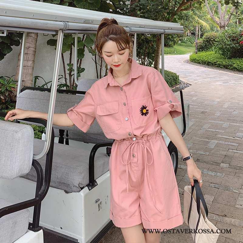 Housut Naisten Cargo Pinkki Kirjaillut Pestä Mukavat Siamilaiset Housut Kesä