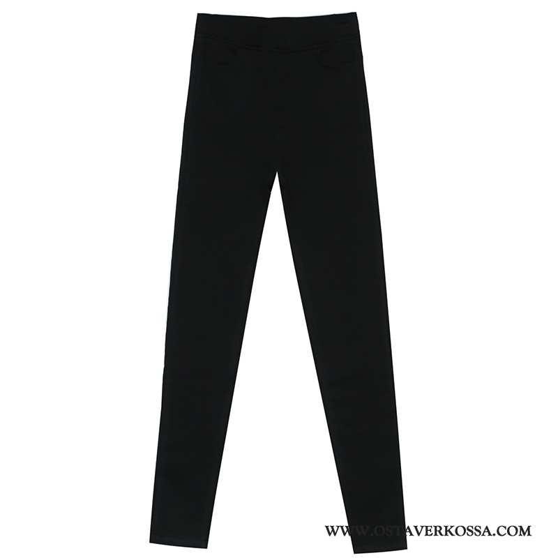 Leggingsit Naisten Paksu Plus Cashmere Musta Päällysvaatteet Leggingsit Mustat