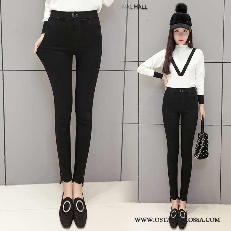 Leggingsit Naisten Skinny Naiset Kevät Musta Kynä Housut Leggingsit Päällysvaatteet Mustat