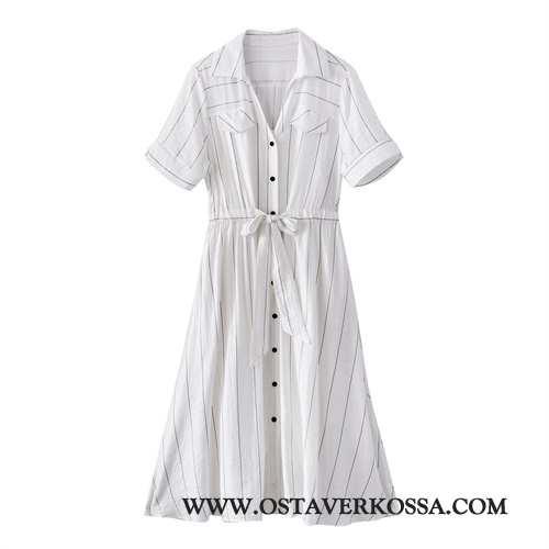 Mekko Naisten Skinny Kesä Valkoinen Yksinkertainen Vaatteet Twinset Kustannukset 2020