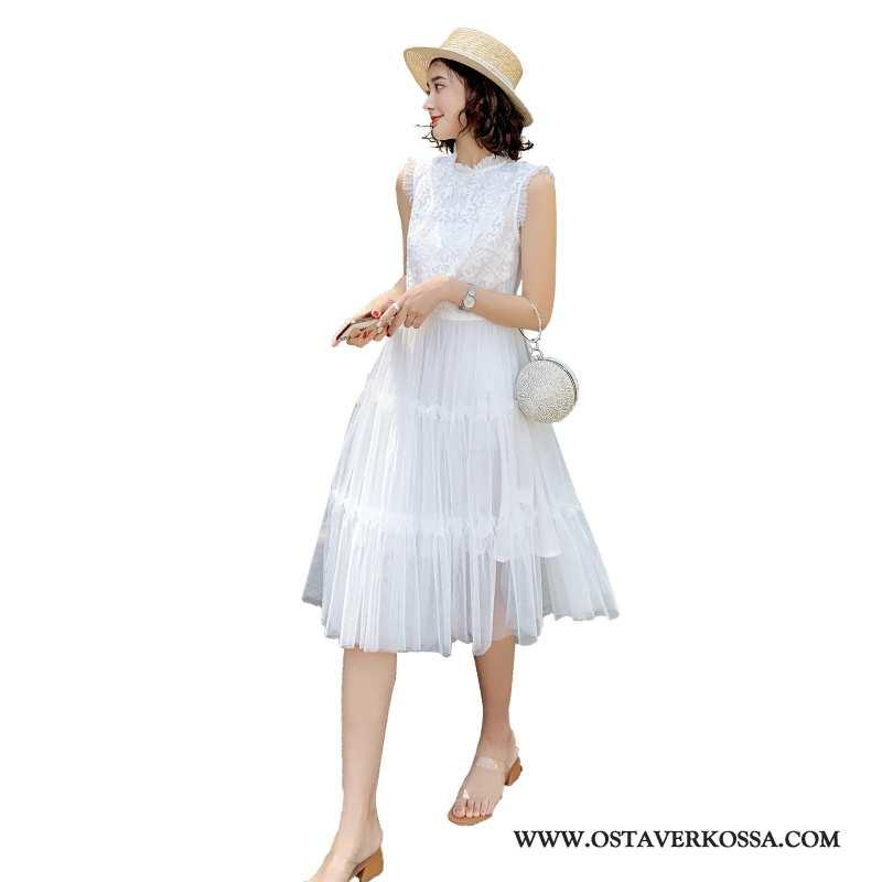 Mekko Naisten Lyhyt Keskimääräinen Numero Vaatteet Valkoinen Suuntaus 2020 Holkki Yksinkertainen