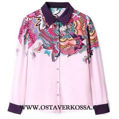 Paidat Naisten Vintage Naiset Muoti Painatus Kesä Paita Design Takki Uusi Pinkki