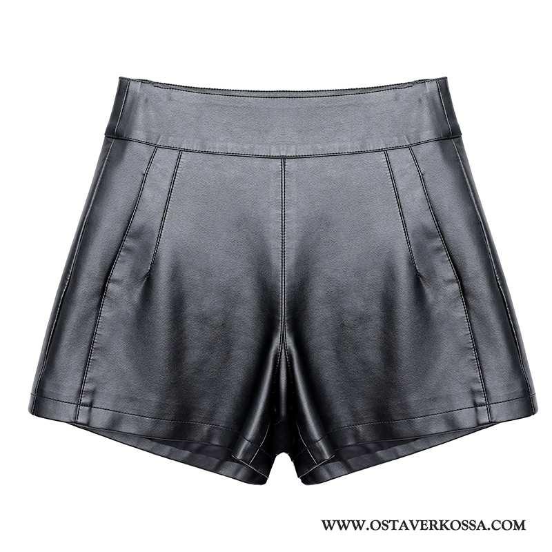 Shortsit Naisten Skinny Tyylikäs Casual Musta Puhdas Kevät Kaikki Ottelut Mustat