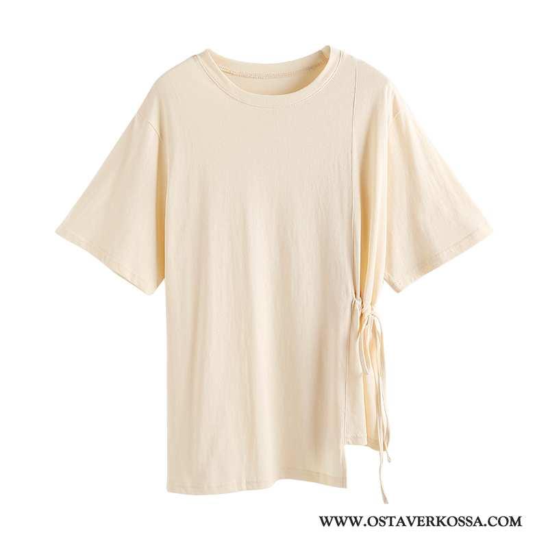 T-paidat Naisten Lyhyt Uusi Epäsäännöllinen Khaki Väljät Holkki Casual Yksinkertainen