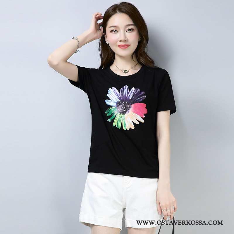 T-paidat Naisten Lyhyt Muoti Uusi Holkki 2020 Suuri Koko Musta Skinny Mustat