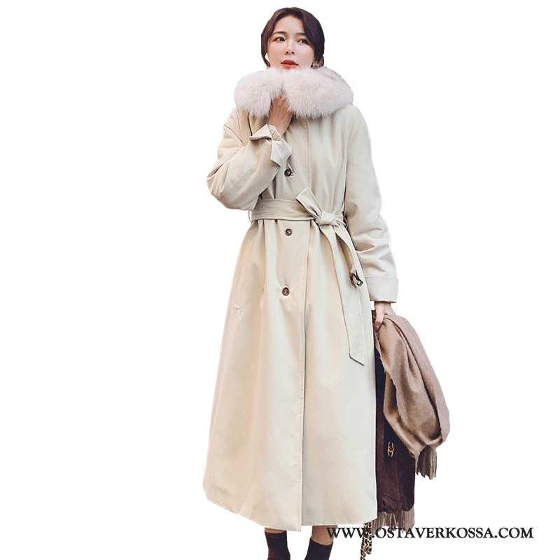 Turkistakki Naisten Talvi 2020 Puuvilla Takki Beige