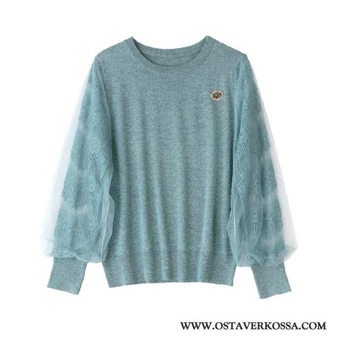 Villapaita Naisten Kevät Pieni Rintaliivit Naiset Trendi Tyylikäs T-paita Uusi Sininen Takki