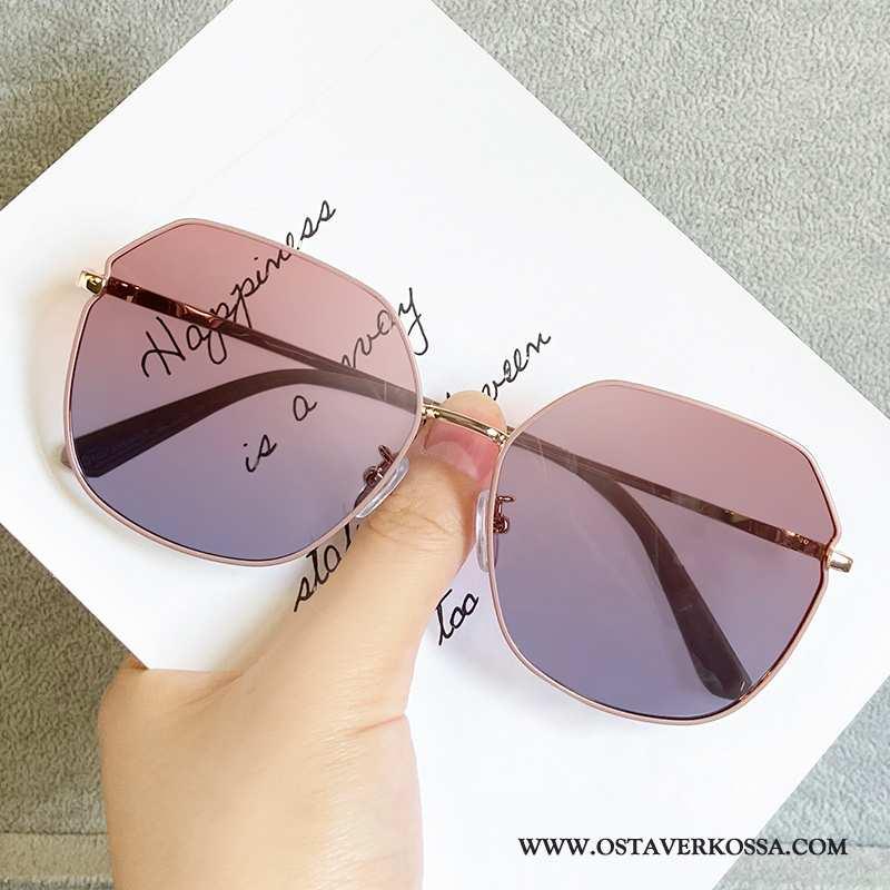Aurinkolasit Naisten Muoti Pyöreät Kasvot Uv Polarisoivasta Uusi Suuntaus Pinkki Epäsäännöllinen