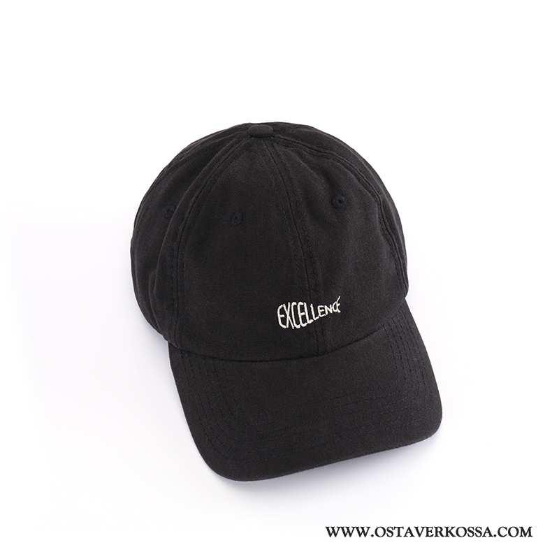 Hatut Miesten Kesä Casual Baseball-korkki Korkki Trendi Musta Kaikki Ottelut Hattu Mustat
