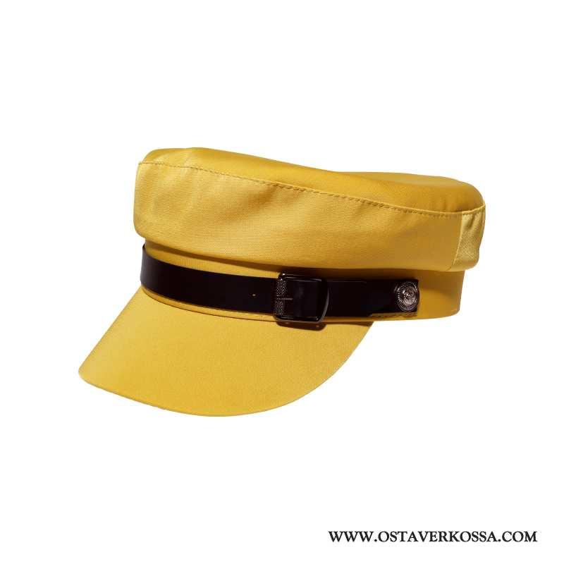 Hatut Naisten Ohut Hattu Vintage Keltainen Muoti Kaikki Ottelut Laivasto Nainen Keltaiset