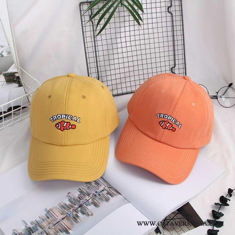 Hatut Naisten Muoti Naiset Baseball-korkki Aurinkosuoja Punainen Hattu Trendi Kaikki Ottelut Keltais