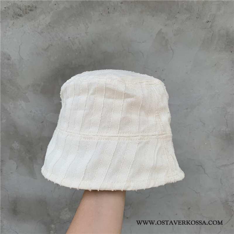 Hatut Naisten Kesä Raidallinen Nainen Aurinkosuoja Valkoinen Shade Hattu Kalastaja Hattu