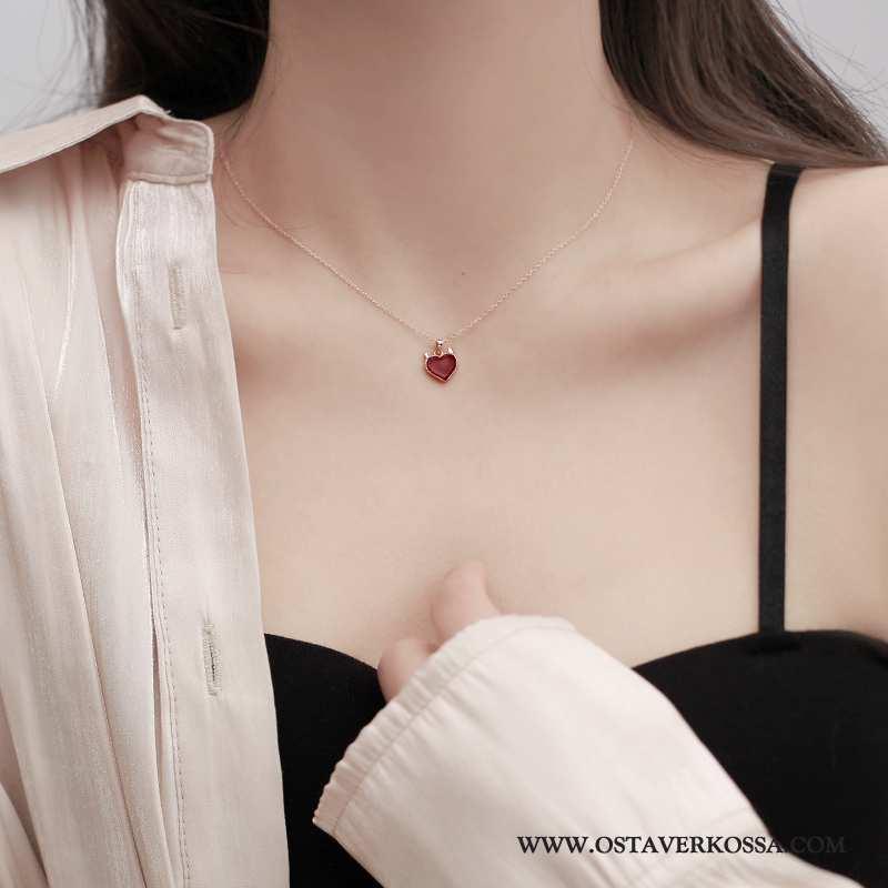 Hopeakorut Naisten Vintage Yksinkertainen Punainen Verkko Naiset Villapaita Persoonallisuus Trendi K