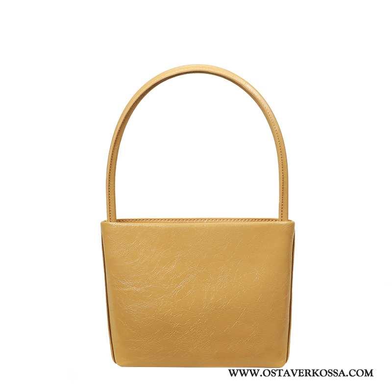 Käsilaukku Naisten Vintage Pieni Rintaliivit Uusi Yksinkertainen Naiset Laukku Keltainen Trendi Kelt