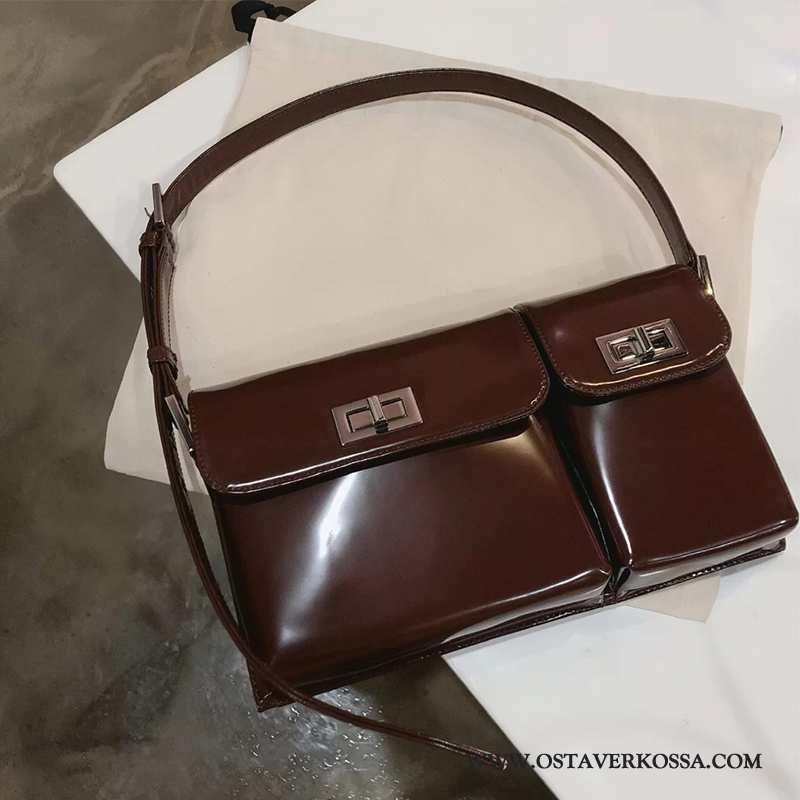 Käsilaukku Naisten Muoti Nahka Uusi Yksinkertainen Ruskea Laukku