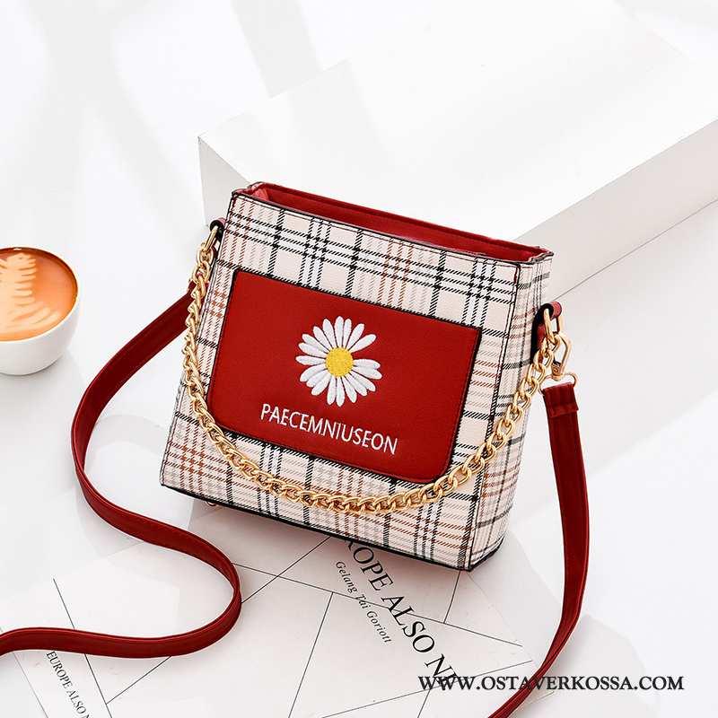 Käsilaukku Naisten Kesä Päivänkakkara Verkko Naiset Punainen Laukku Trendi Uusi