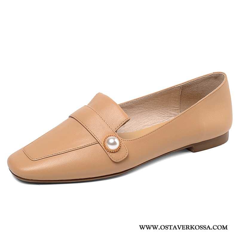 Mokkasiinit Naisten Kesä Nahka Suuri Koko Pieni Rintaliivit Keltainen Kengät Naiset Nauhaton Keltais