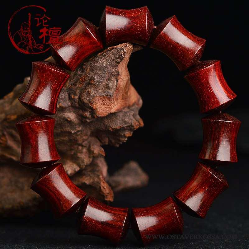 Rannekoru Miesten Violetti Buddha Rannerengas Punainen Naiset Miehet Bambu Painatus Viininpunainen
