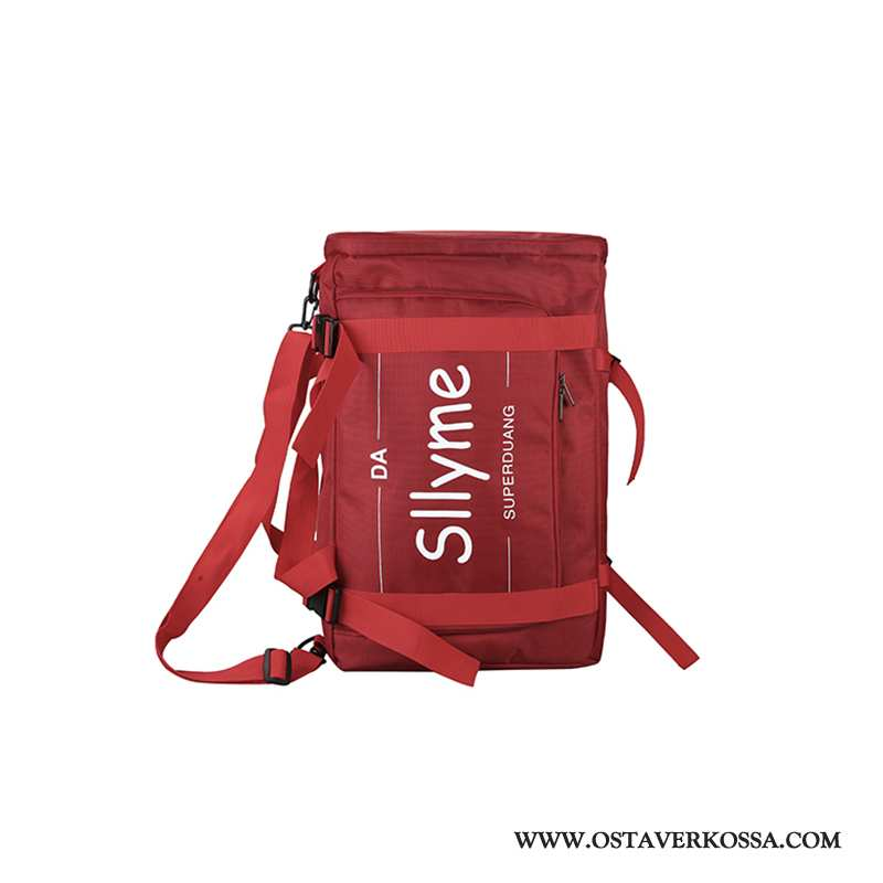 Reppu Trip Naisten Muoti Miehet Uusi Tide-brändi Punainen Koululaukku Iso Suuri Kapasiteetti Matkust