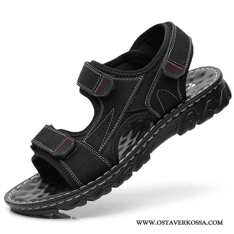 Sandaalit Miesten Kesä Casual Kaikki Ottelut Päällysvaatteet Opiskelija Kengät Musta Rooma Miehet Mu