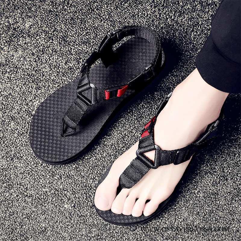 Sandaalit Miesten Ranta Casual Suuntaus Musta Uusi Tossut Liukumaton Miehet Mustat