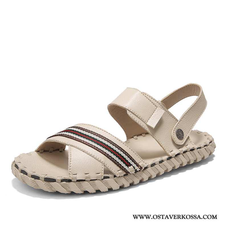 Sandaalit Miesten Kesä Casual Monitoimilaitteet Miehet Uusi Kengät Rooma Kuljettajille Englanti Beig