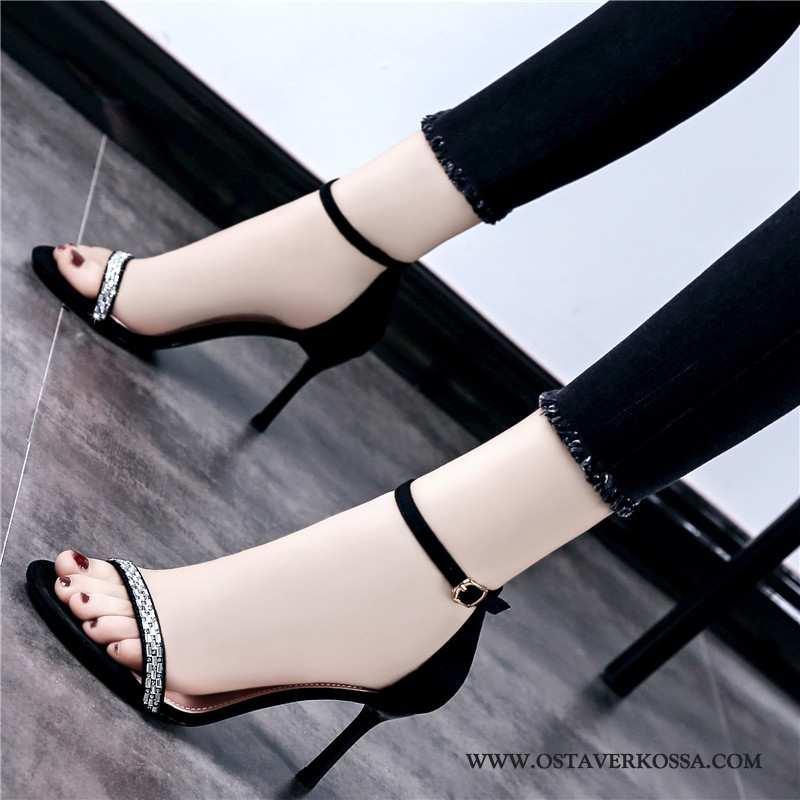 Sandaalit Naisten Ohut Seksikäs Kaikki Ottelut Naiset Muoti Korkokengät Musta Mustat