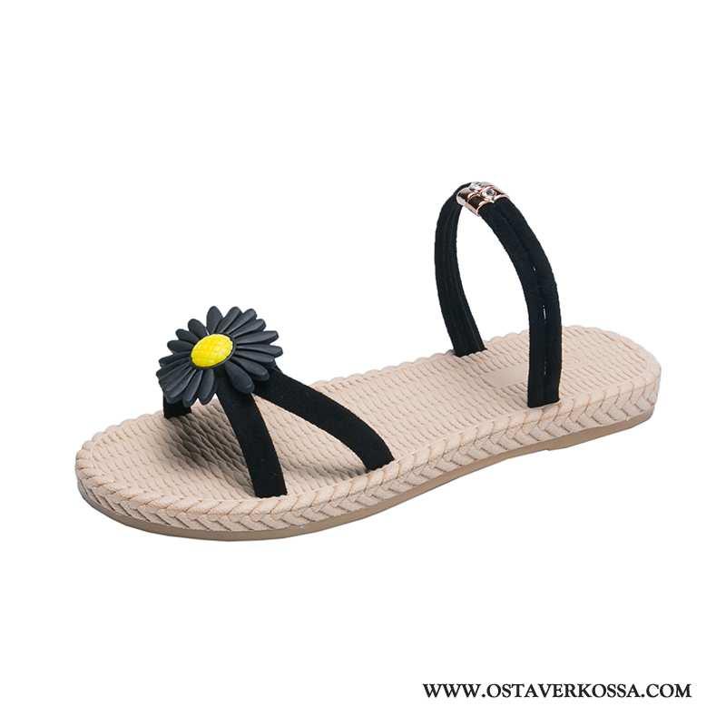 Sandaalit Naisten Muoti Casual Verkko Uusi Pehmeä Pohja Kengät Rooma Opiskelija Kaikki Ottelut Musta