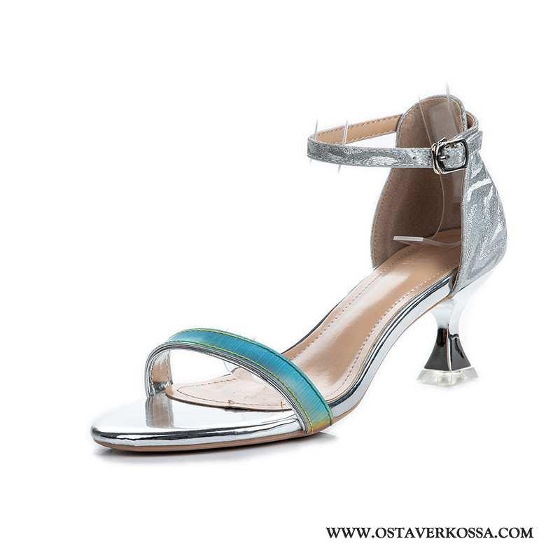 Sandaalit Naisten Kesä Street Ampuminen Punainen Keskimääräinen Numero Nainen Kengät Avoin Verkko Ka